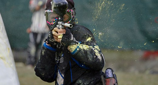 Pro Paintball is an intense game of capture the flag