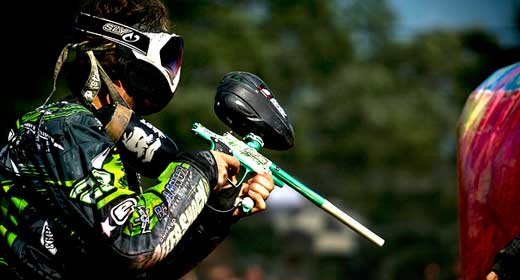 Pro Paintball player from Chicago Aftershock