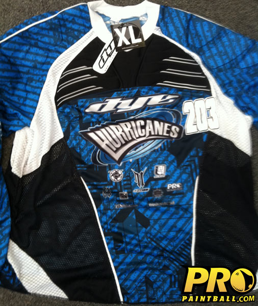 New Paintball Gear: NE Hurricanes DYE Jersey