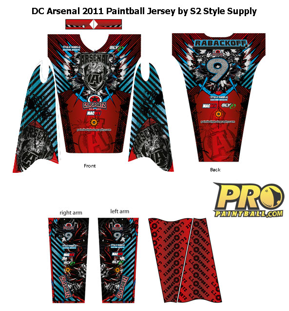 New Paintball jersey for DC Arsenal 2011