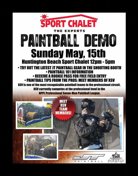 Free Paintball with XSV at Sport Chalet