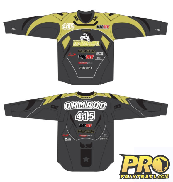 New Paintball Jersey for Portland Uprising