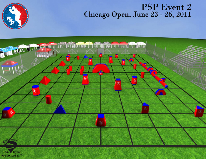 PSP Chicago Open Paintball Field Layout