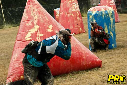division 1 paintball teams Hurricanes and Top Gun battling it out