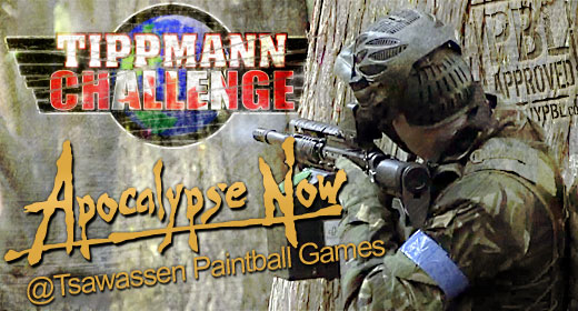 Scenario Paintball at Tsawassen Paintball Games, Tippman Challenge