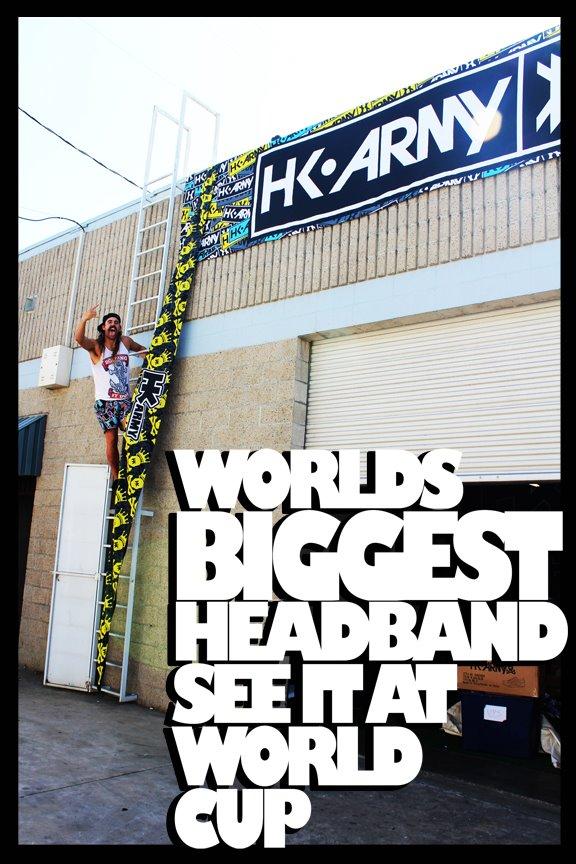 World's Biggest Paintball Headband