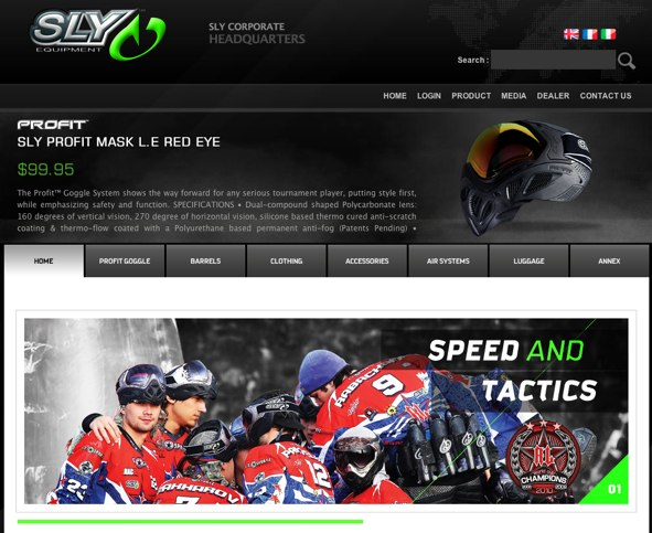 New Paintball Website for SLY Equipment
