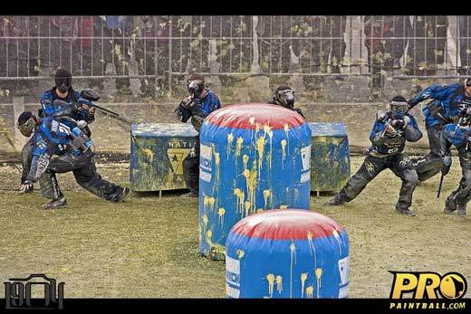 Pro Paintball team San Diego Dynasty breaking out