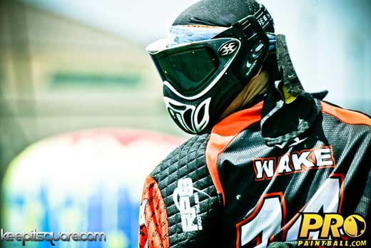 Pro paintball player Zack Wake