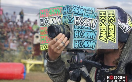 Cassidy Sanders Filming Paintball - Photo: Roggie Photo